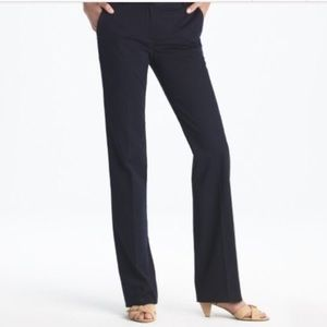 J Crew Cafe Trouser in Cotton Black 00 Petite